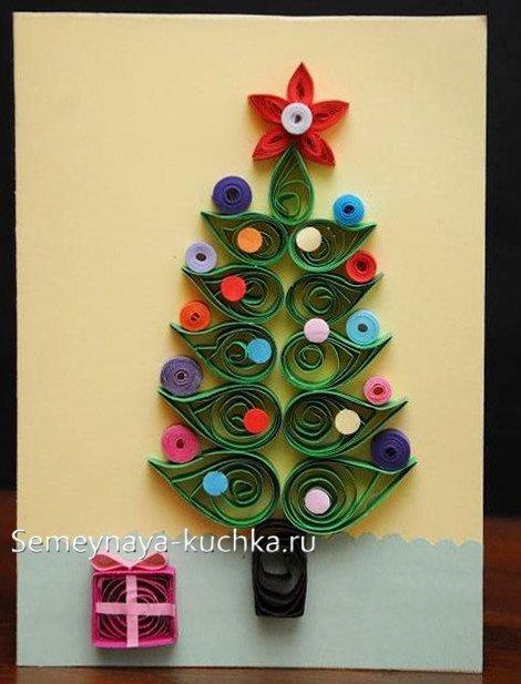 как сделать елку своими руками из цветной бумаги