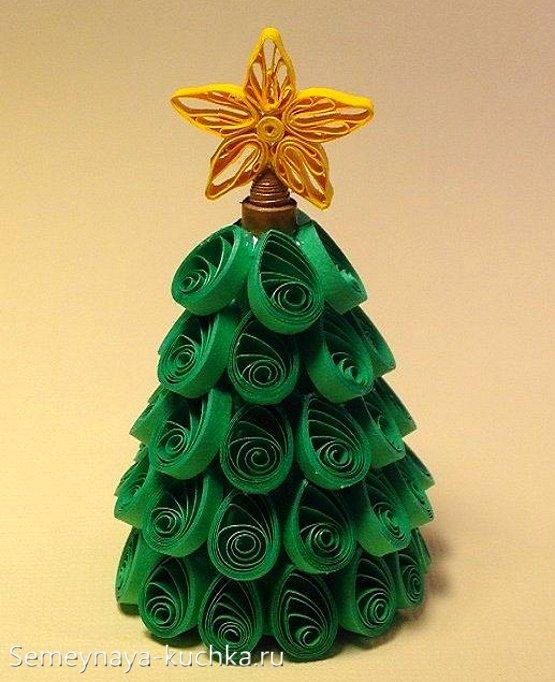 бумажные елки сделать самому
