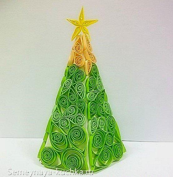 бумажная объемная елка