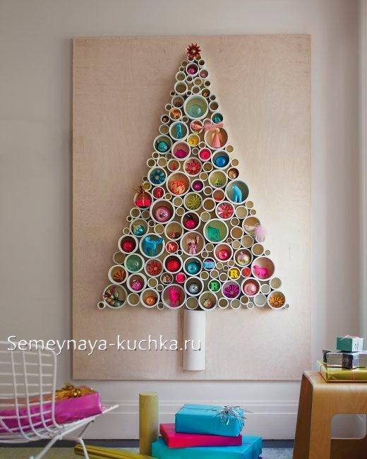елка из бумажных рулонов
