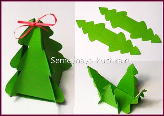 схема сборки новогодней елки из бумаги