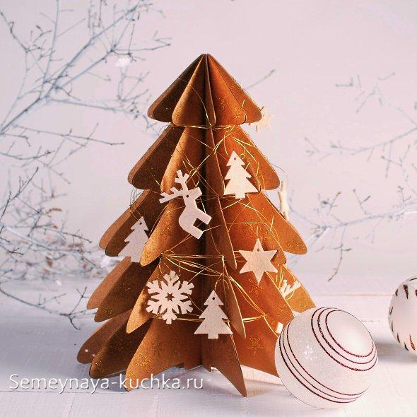 новогодняя елка из картона своими руками
