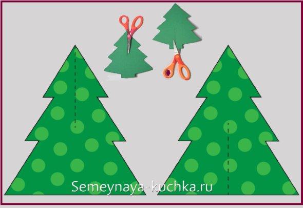 схема новогодней 3d елки