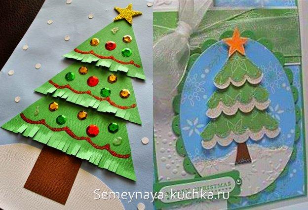 аппликация елки для детей