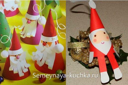 детские новогодние поделки из картона и бумаги