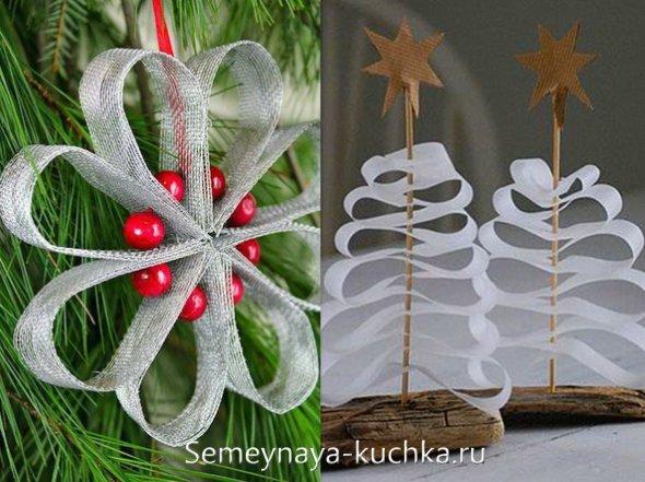 новогодняя поделка на елку
