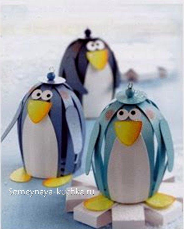 новогодние поделки пингвины своими руками