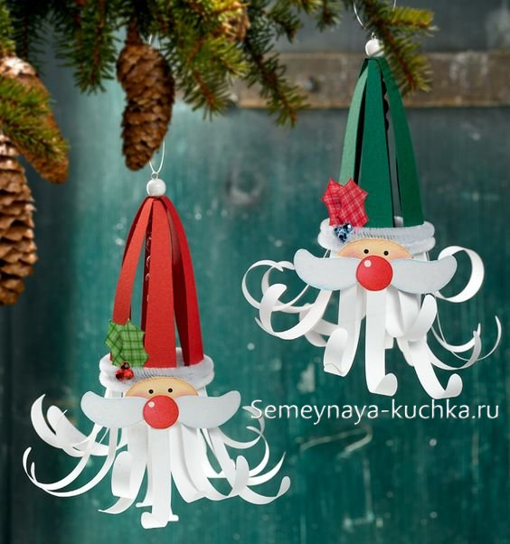 новогодние поделки дед мороз из бумаги
