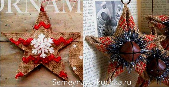 поделки из мешковины новогодние