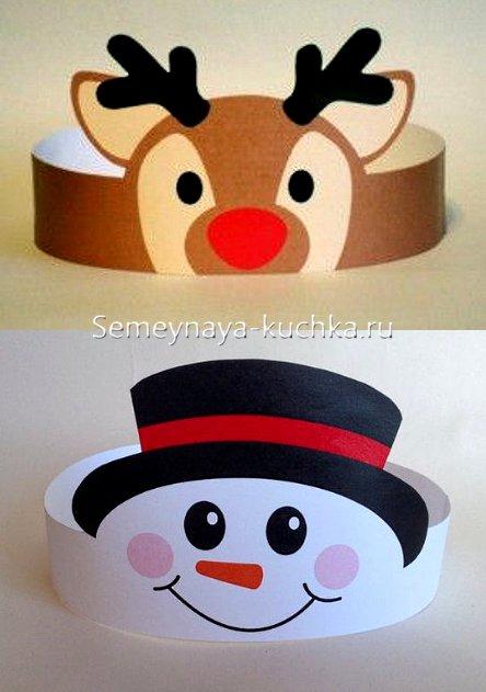 новогодние поделки маски шапки