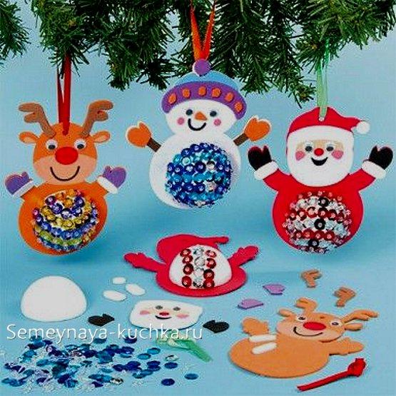 новогодние поделки игрушки на елку