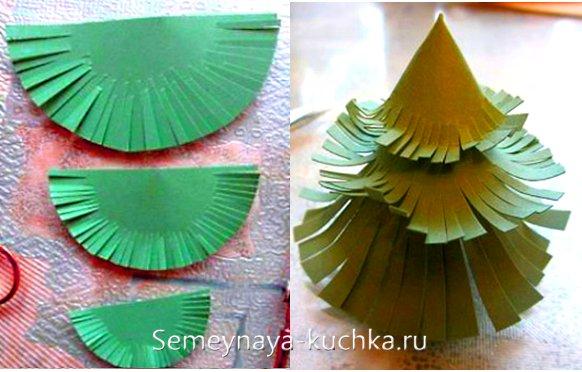 елка из бумажных конусов