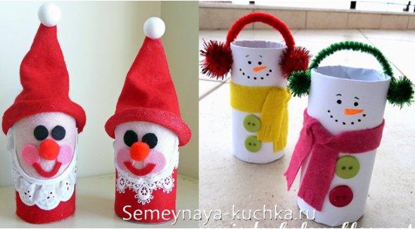поделки из рулончиков на новогоднюю тему для детей