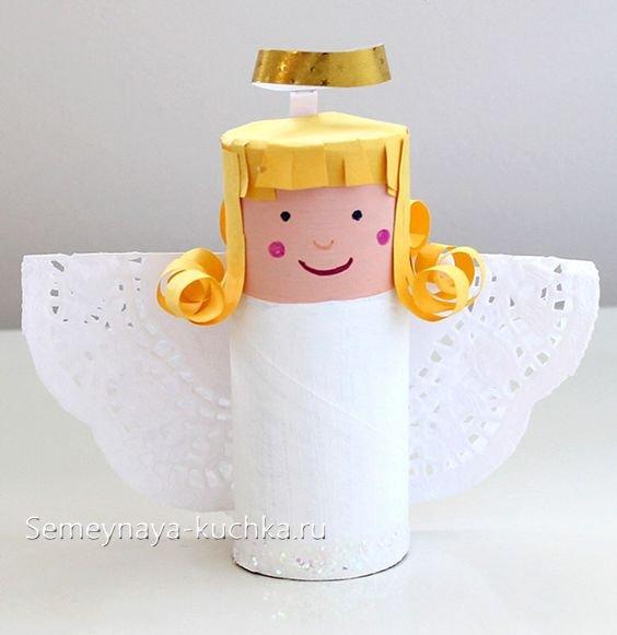 поделка ангел новогодняя для детей