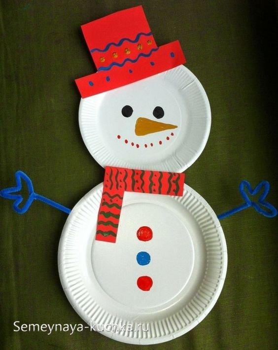 поделка снеговик на новый год своими руками