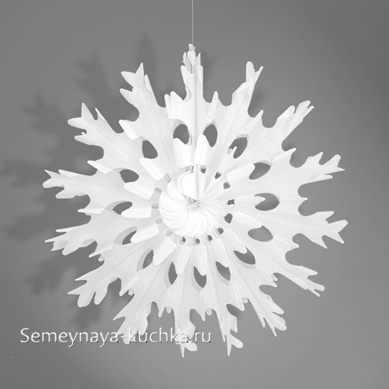 как сделать снежинку веер из бумаги