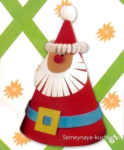 поделка дед мороз из бумаги новогодняя