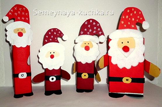 новогодние поделки дед мороз из коробки своими руками