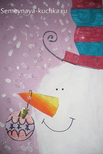 новогодний рисунок детский
