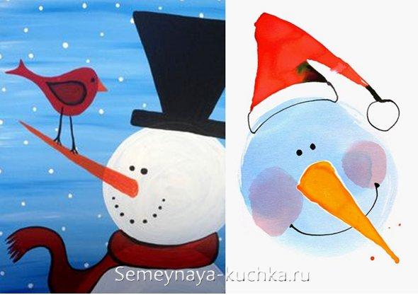 новогодний рисунок для детей