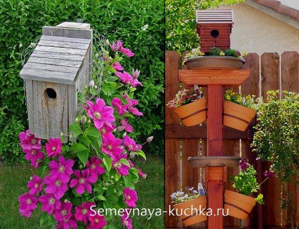 домики для птиц на даче