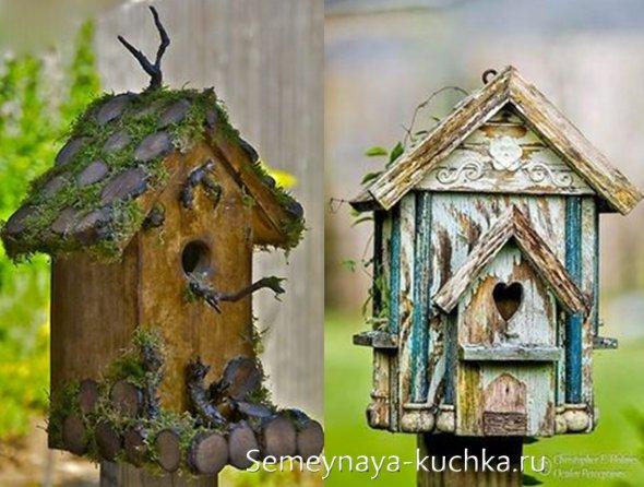правильный декор домиков для птиц