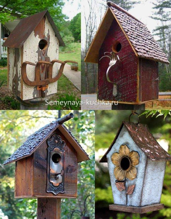 домики для птиц в саду на даче