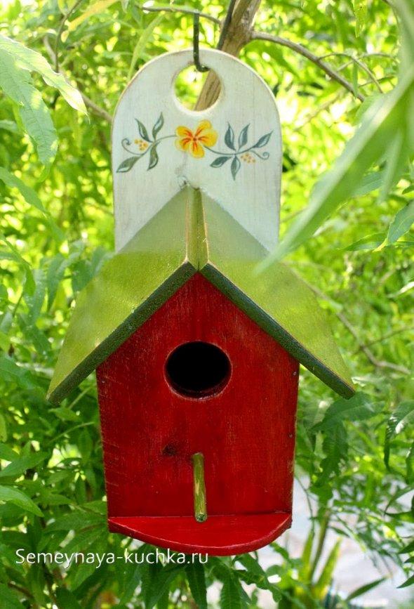 домик для птиц как крепить на дерево