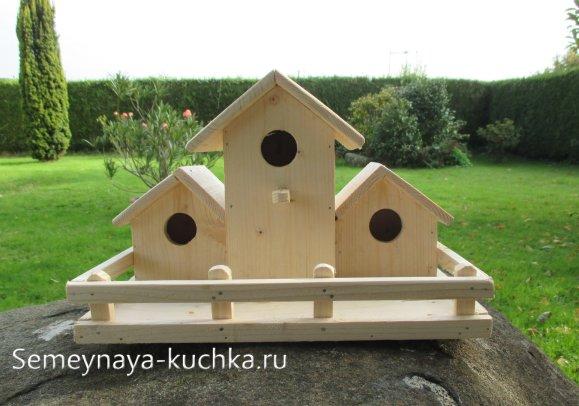 многоместный домик для птиц