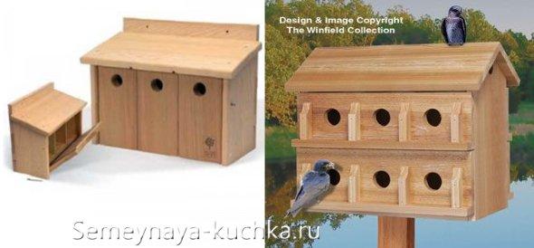 домик для птиц из дерева