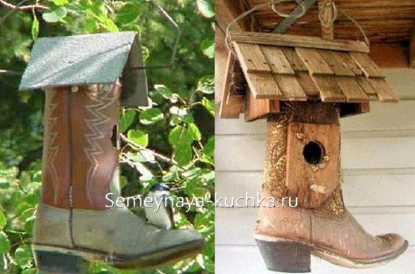 домики для птиц из подручных материалов