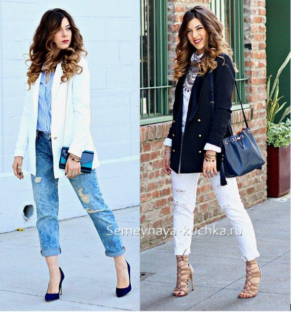 пиджак под джинсы весна