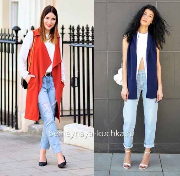как носить светлые джинсы весной