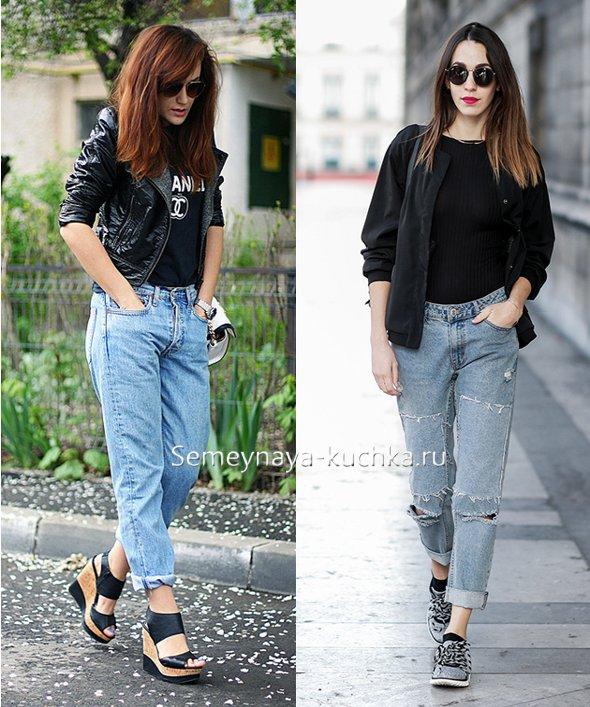с чем носить модные светлые джинсы