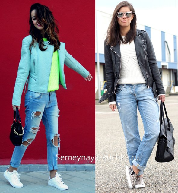 джинсы и кроссовки весна