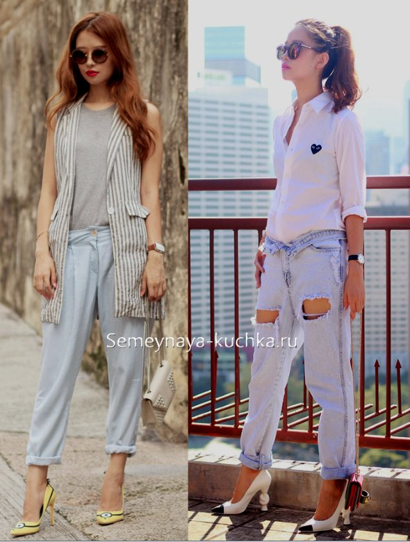светлые весенние джинсы