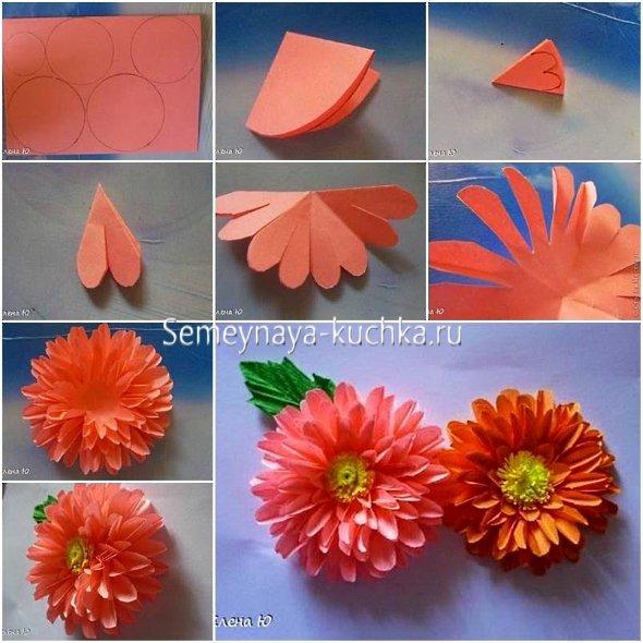 мастер-класс цветы из бумаги поэтапно