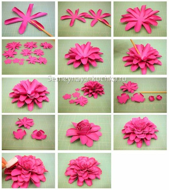 цветы бумажные пошагово