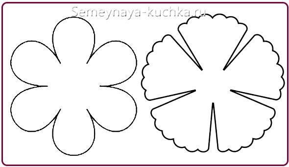 шаблоны для бумажных цветов