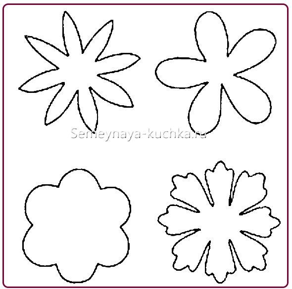 трафарет и шаблон цветы из бумаги