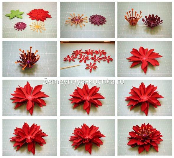 поэтапный мастер-класс цветы из бумаги