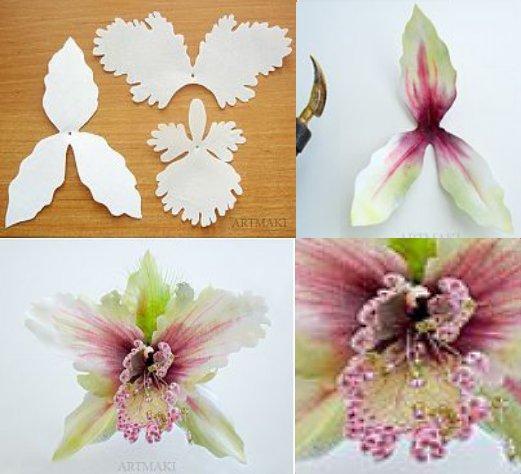 орхидея цветок из бумаги