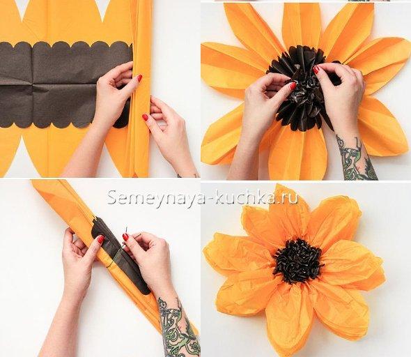 как сделать цветы из гофрированной бумаги
