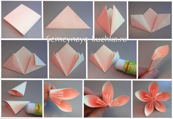 цветы оригами мастер-класс