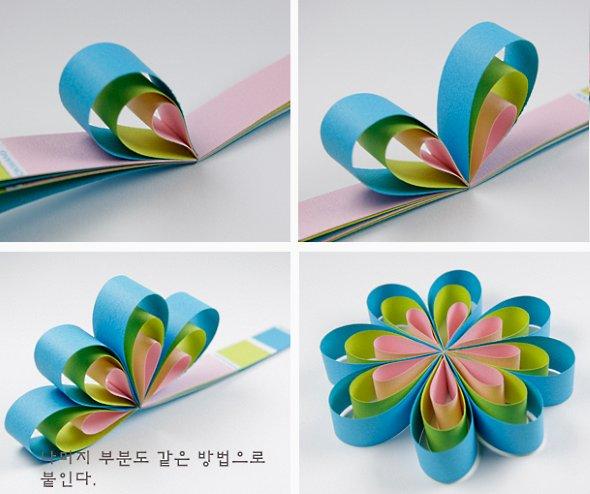 поделки цветы из бумажных полос