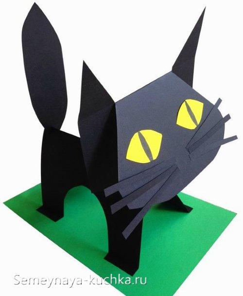 поделка кошка из бумаги для детского сада