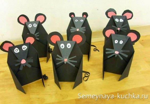 поделка мышь для детей детского сада