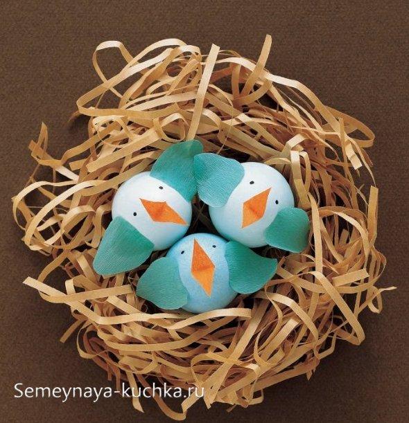поделки птички из яиц