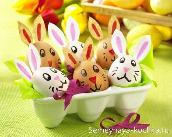 зайчики из яиц поделка для детей