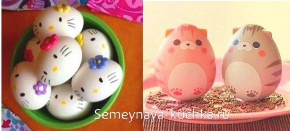 поделки котики из яиц